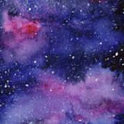 Nebula Watercolor Galaxy Poster