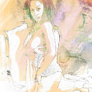 Neemah African American Nude Girl In Sexy Sensual Painting 4767. Poster