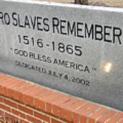 Negro Slaves Remembered Poster by Warren Thompson