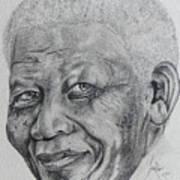 Nelson Mandela Poster by Stephen Sookoo