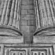 Neo Classical Architectural Detail In New York City Poster