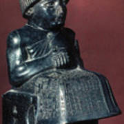 Neo-sumerian Prince Gudea Poster