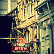 Neon Oysters Sign Poster