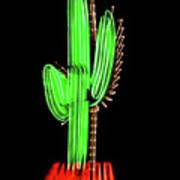 Neon Tucson Cactus Poster