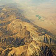 Nevada Mountain Terrain Aerial Poster