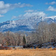 Nevada Ranch In Winter Poster