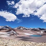 Nevado Ojos Del Salado And Laguna Negra Poster