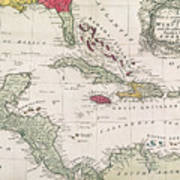 New And Accurate Map Of The West Indies Poster by American School