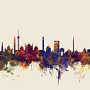 New Delhi India Skyline Poster