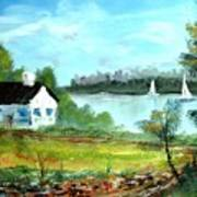 New England Cottage Poster