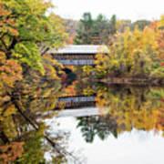 New England Covered Bridge No.63 Poster