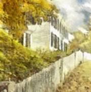 New England Fall Foliage Pencil Poster
