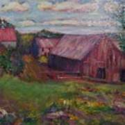 New England Farm Poster