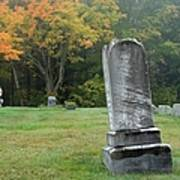 New England Graveyard During The Autumn  Poster
