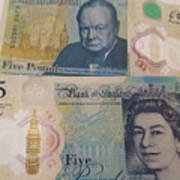 New Five Pound Notes Poster