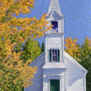 New Hampshire Church Poster