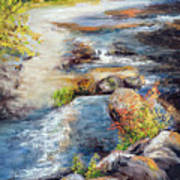 New Hampshire Creek In Fall Poster