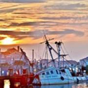 New Hope Sunrise - Sunken Ship At West Ocean City Harbor Poster