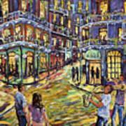 New Orleans Jazz Night By Prankearts Fine Art Poster