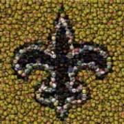 New Orleans Saints  Bottle Cap Mosaic Poster