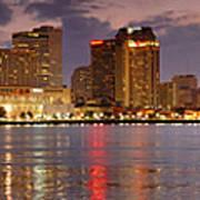 New Orleans Skyline At Dusk Poster