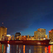 New Orleans Skyline At Night  Poster