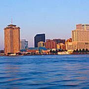 New Orleans Skyline From Algiers Point Poster