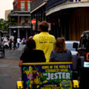 New Orleans Street Bike Taxi Poster