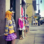 New Orleans Street Mannequins Poster