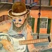 New Orleans Street Musician Poster
