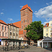 New Town Square In Torun Poster