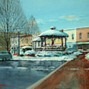 Triangle Park In Winter Poster