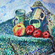 New Work Painted In Pointillism  Poster