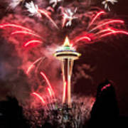 New Years At The Space Needle Poster