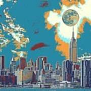 New York America  Skyline - Manhattan Poster
