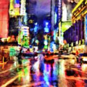 New York At Night - 14 Poster