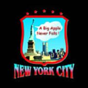 New York Big Apple Design Poster