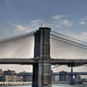 New York Bridges Poster