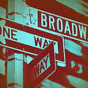 New York Broadway Sign Poster by Naxart Studio