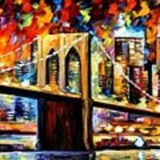 New York Brookyln Bridge Poster