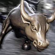 New York Bull Of Wall Street Poster