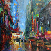 New York City 42nd Street Painting Poster