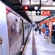 New York City Broadway Subway Station Poster