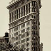 New York City - Flatiron In Sepia Poster