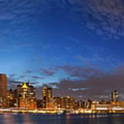 New York City Manhattan Skyline Panorama Poster