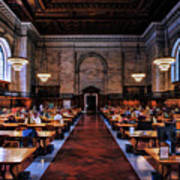 New York City Public Library Rose Reading Room Poster