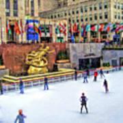New York City Rockefeller Center Ice Rink Poster