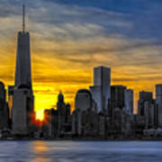 New York City Skyline At Dawn Poster