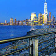 New York City Skyline From Liberty State Park In Jersey City New Jersey #3 Poster