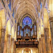 New York City St Patrick's Cathedral Organ Poster
